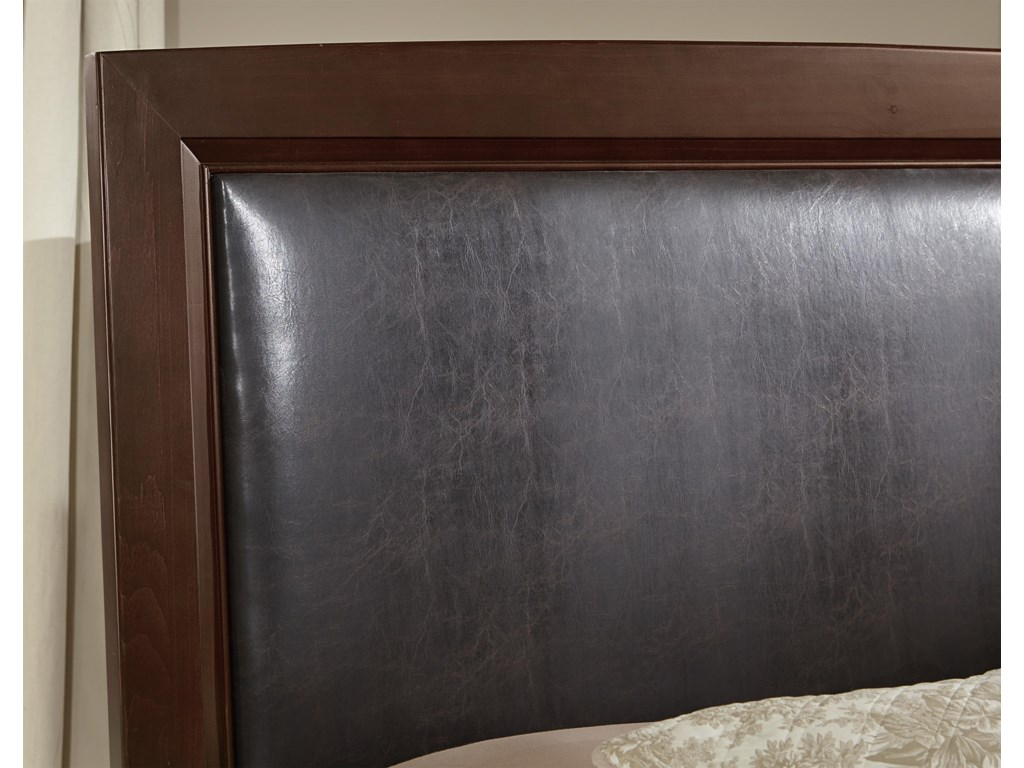 Vaughan Bassett TransitionsTwin Uph. Bed, Bonded Leather with Storage