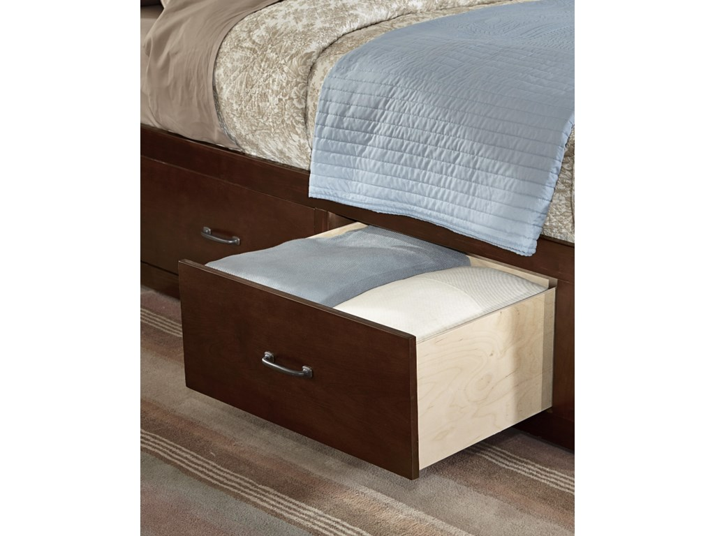 Vaughan Bassett TransitionsQueen Panel Bed with 1 Side Storage