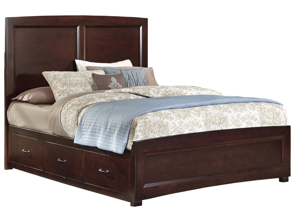 Vaughan Bassett TransitionsQueen Panel Bed with 2 Side Storage Units