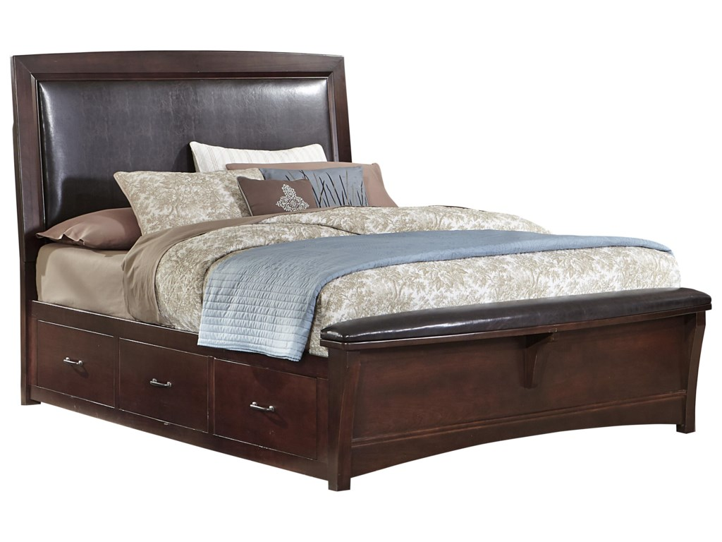 Vaughan Bassett TransitionsKing Upholstered Bed with 1 Side Storage