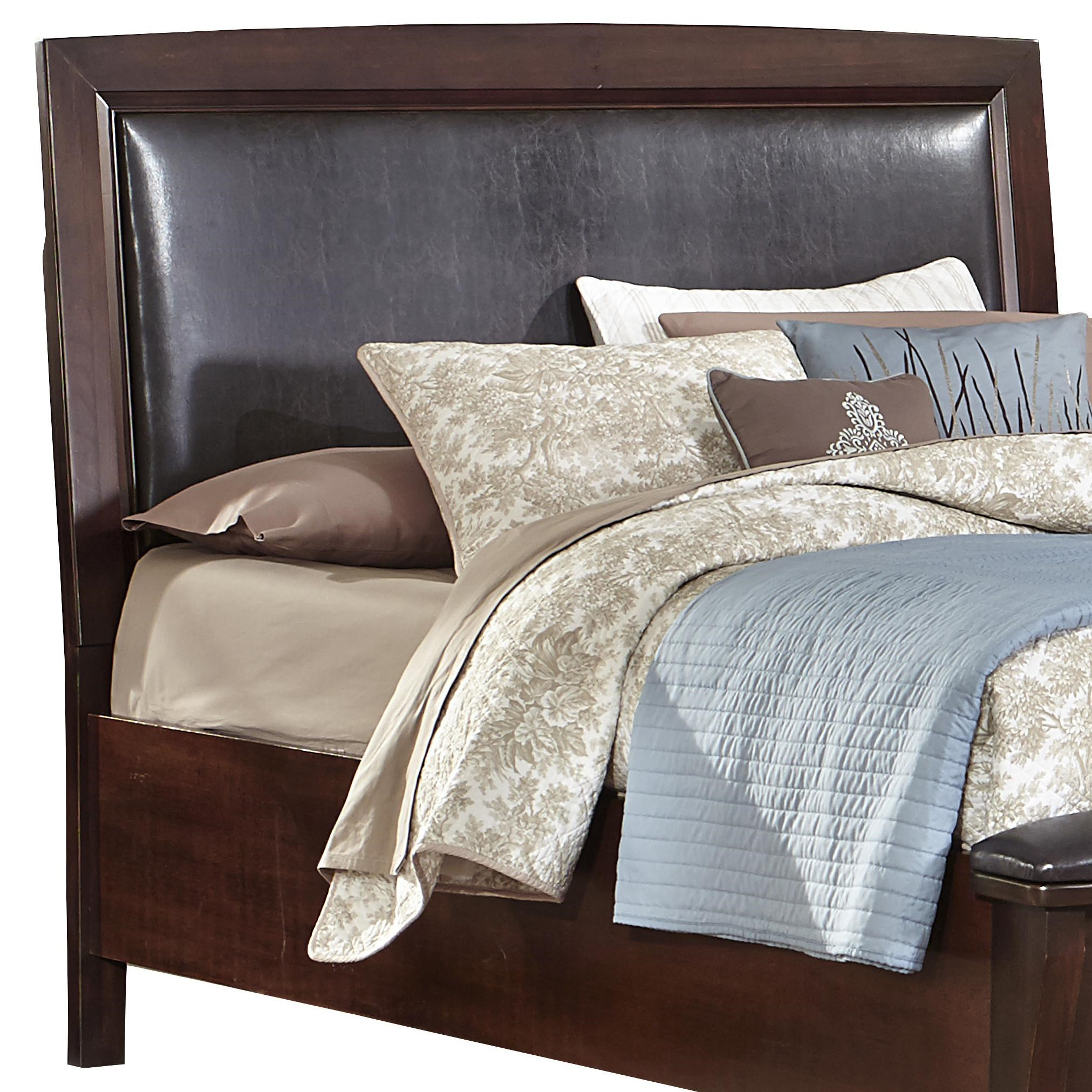 vaughan bassett transitions fullqueen upholstered headboard chocolate bonded leather great american home store headboards