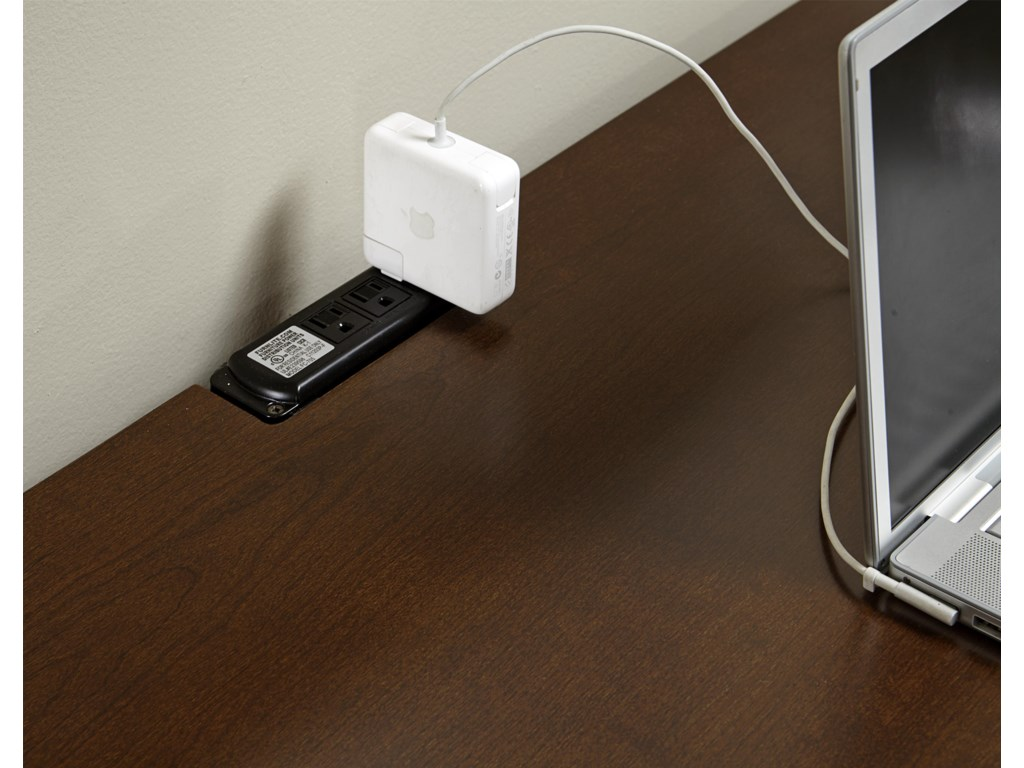 Vaughan Bassett TransitionsLaptop Desk - 2 Drawers & Power Pack