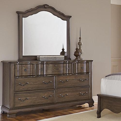 Vaughan Bassett Villa Sophia Dresser & Shelter Mirror