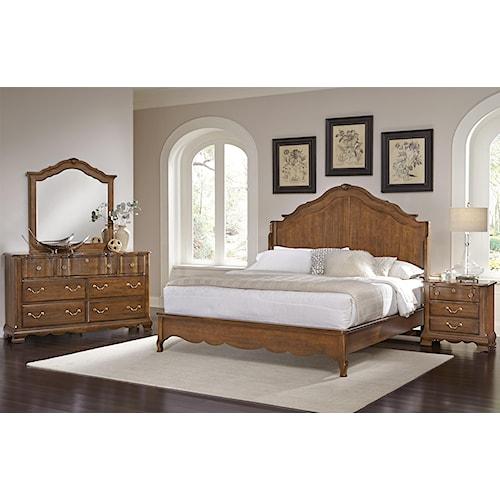 Vaughan Bassett Villa Sophia Queen Bedroom Group