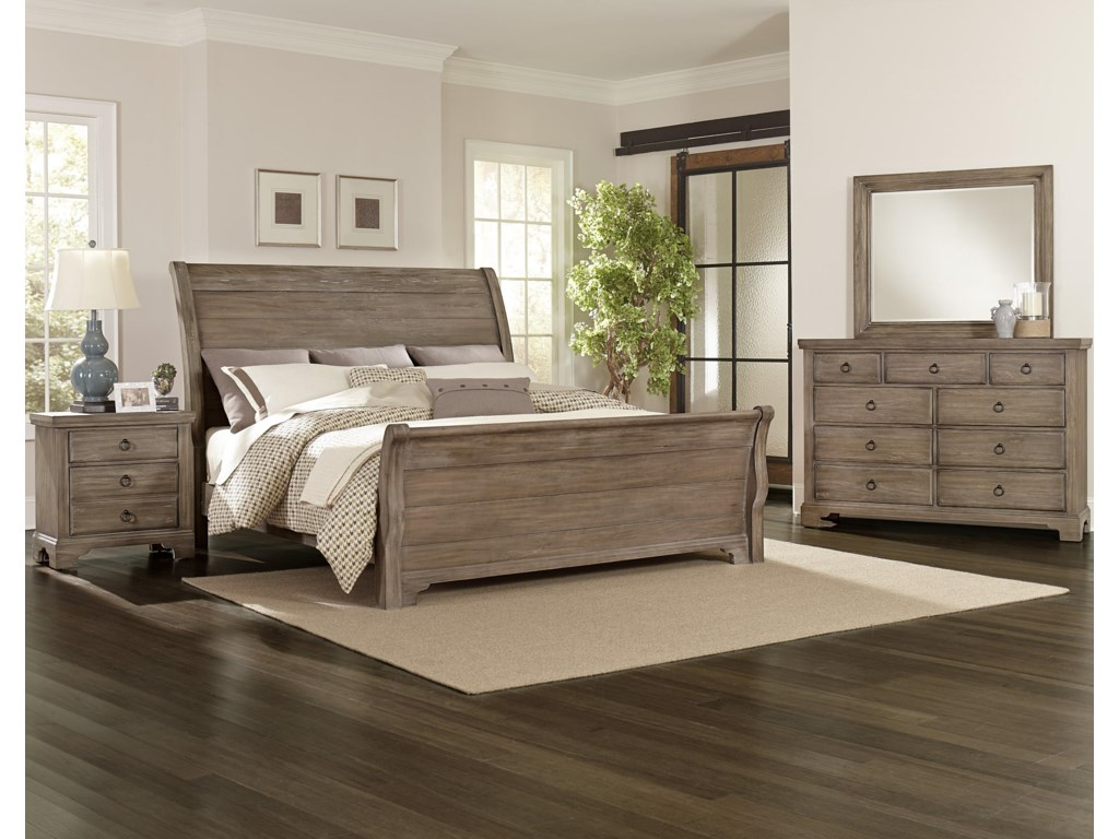 Vaughan Bassett Whiskey BarrelQueen Sleigh Bed