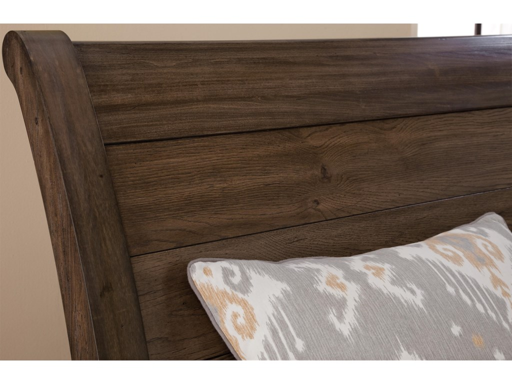 Vaughan Bassett Whiskey BarrelQueen Storage Bed with Sleigh Headboard