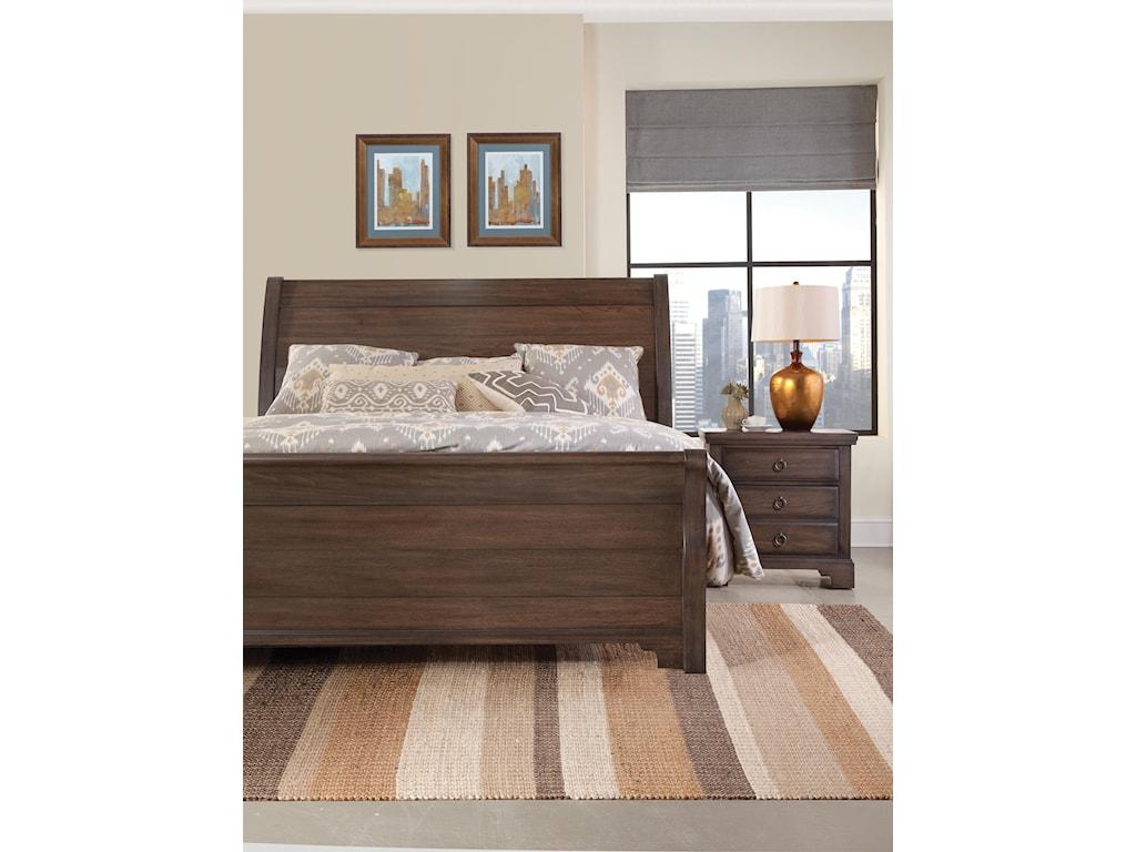 Vaughan Bassett Whiskey BarrelQueen Sleigh Bed