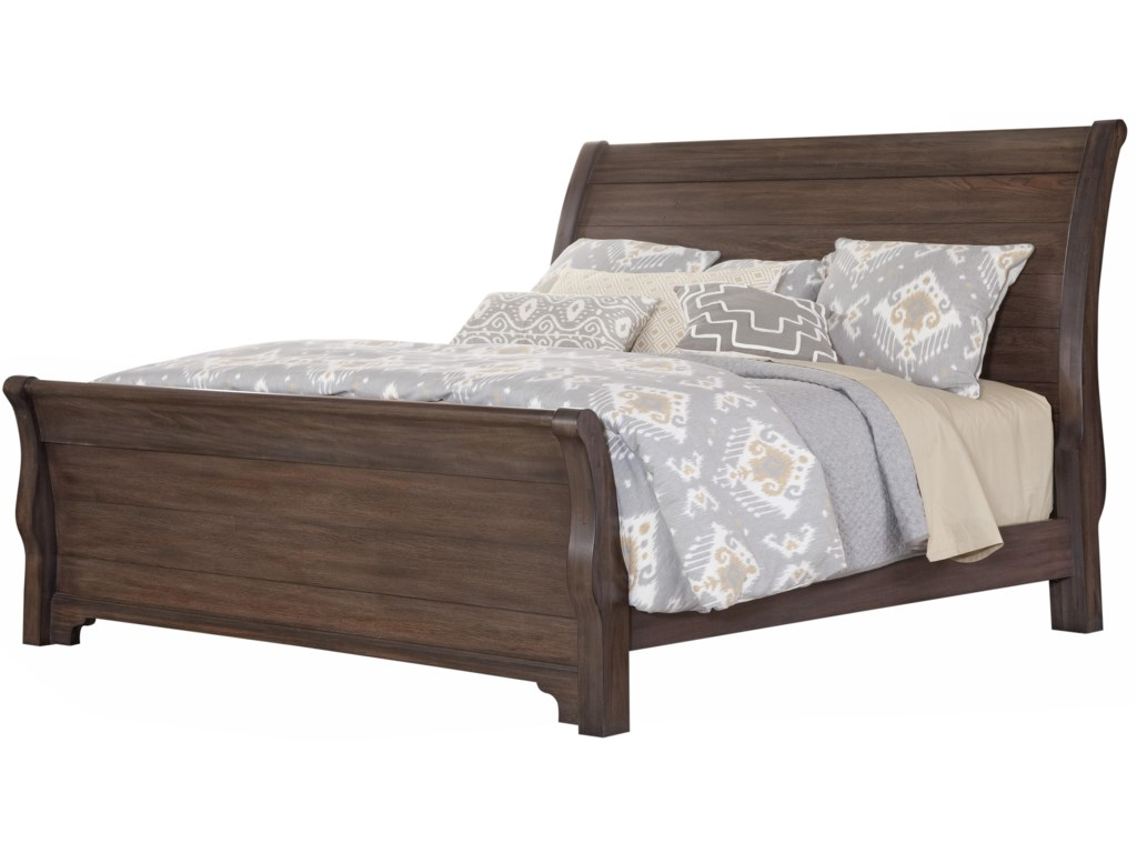 Vaughan Bassett Whiskey BarrelKing Sleigh Bed