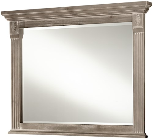 Vaughan Bassett Woodlands Bb96 446 Landscape Mirror Northeast Factory Direct Dresser Mirrors