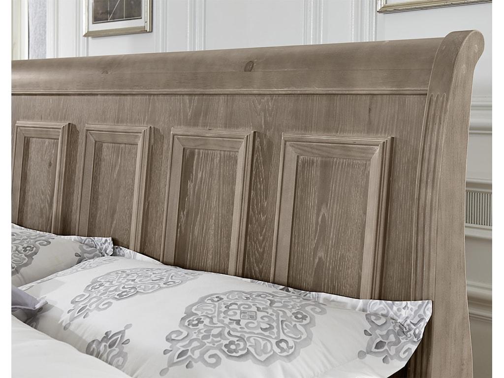 Vaughan Bassett WoodlandsQueen Sleigh Storage Bed