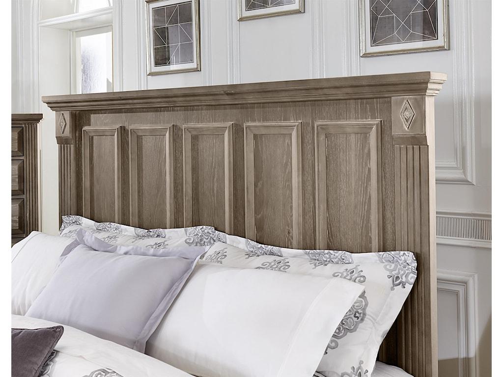 Vaughan Bassett WoodlandsQueen Mansion Bed