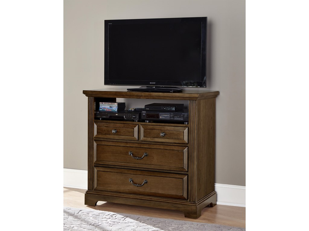 Vaughan Bassett WoodlandsMedia Chest - 4 drawers