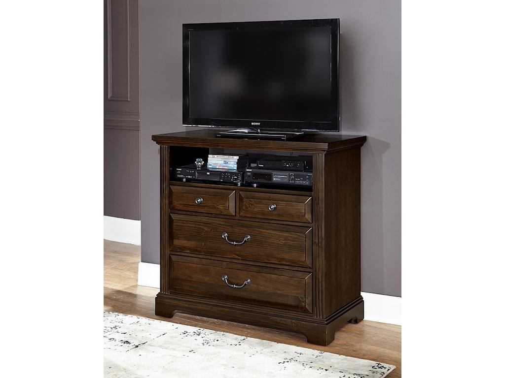 Vaughan Bassett WoodlandsMedia Chest - 4 drawers