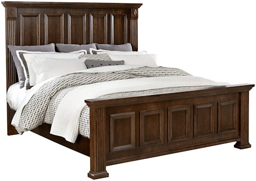 Vaughan Bassett Woodlands Transitional Queen Mansion Bed