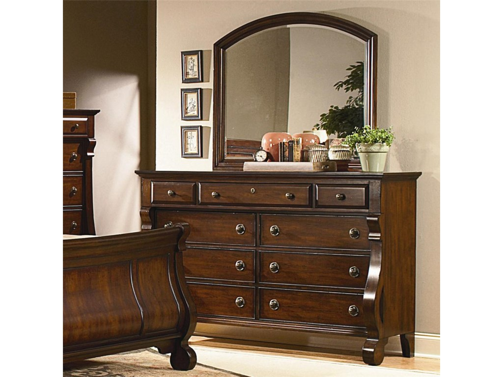 Vaughan Furniture Georgetown9 Drawer Dresser and Mirror Set