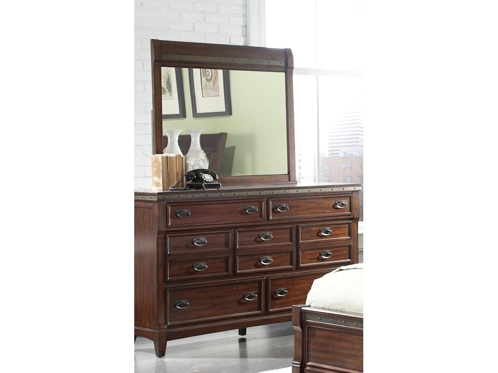 Vaughan Furniture Morgan RoadDresser and Mirror Combination