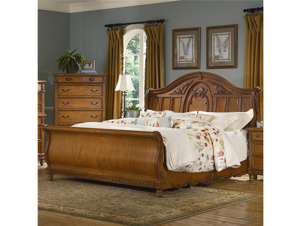 Vaughan Furniture Southern HeritageQueen Sleigh Bed