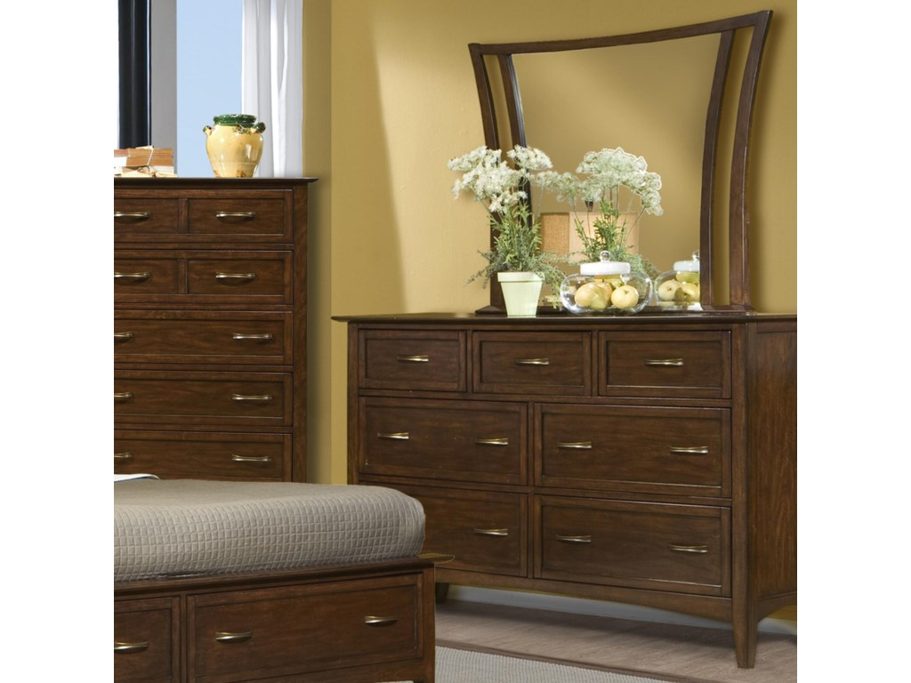 Vaughan Furniture Stanford HeightsDresser and Mirror Combo