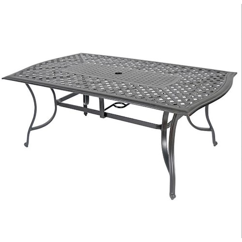 Veranda Classics by Foremost Harmony RECTANGULAR DINING TABLE W/CAST TOP & EXTRUDED BASE