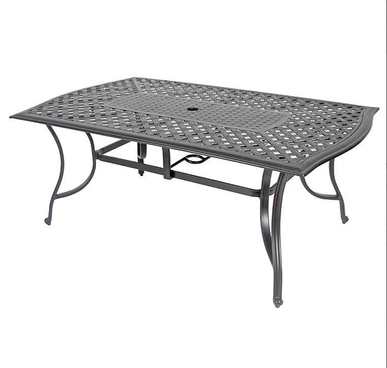 Exceptionnel Veranda Classics By Foremost Harmony RECTANGULAR DINING TABLE W/CAST TOP U0026  EXTRUDED BASE