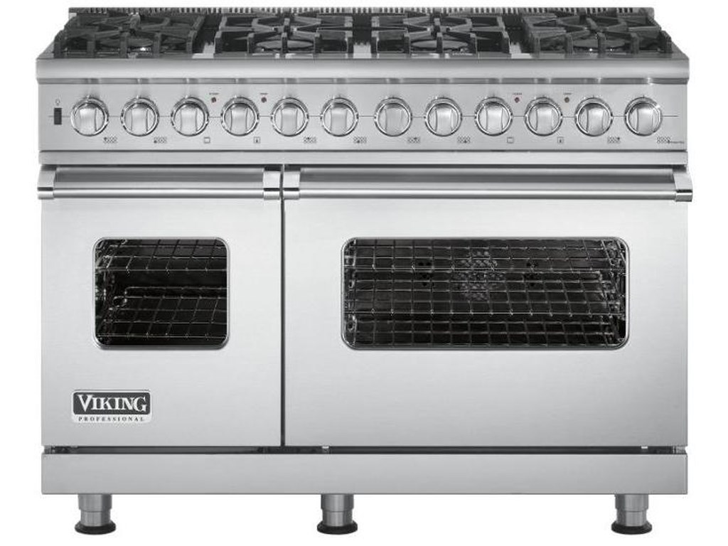 48 Freestanding Dual Fuel Range With Natural Gas And 8 Sealed Burners By Viking Professional Series Collection