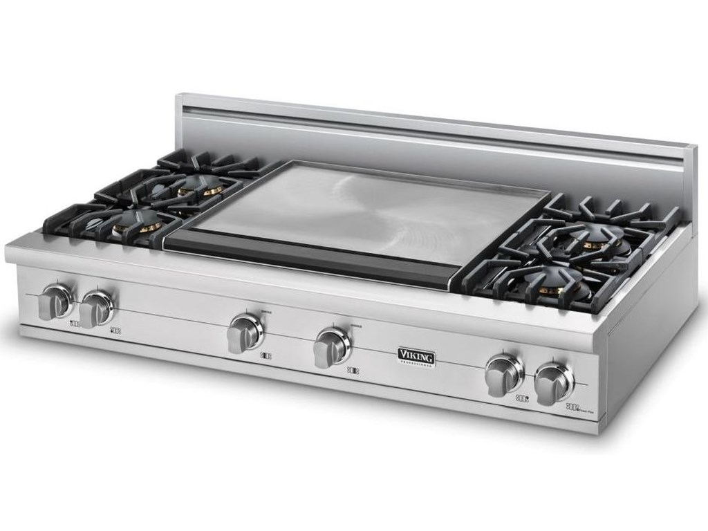 48 Professional Series Natural Gas Rangetop With 6 Sealed Burners 24 Griddle By Viking