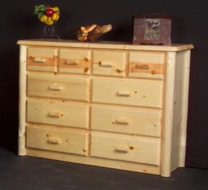 Log Furniture Northwoods Ten Drawer Chesser   Becker Furniture World    Dresser