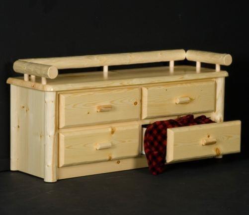 Log Furniture Northwoods Deacons Storage Bench Becker Furniture World Cedar Chest