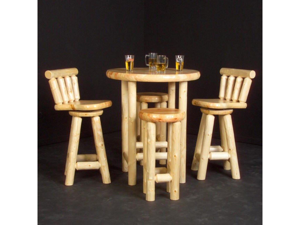 Shown with Swivel Log Bar Stools