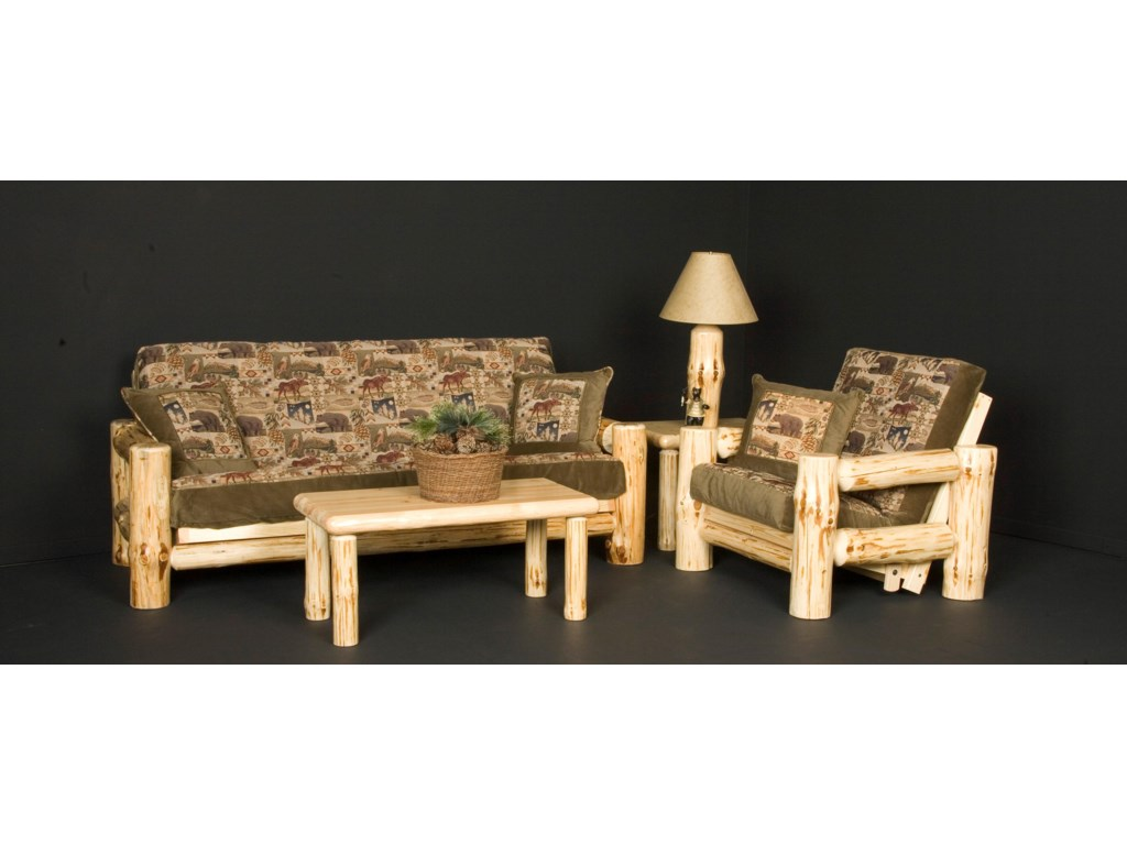 Shown with Coffee Table, End Table, and Futon Chair