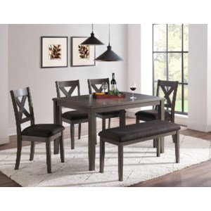 Vilo Dining 6 Piece Dining Set With Bench Ruby Gordon Home Casual Dining Room Groups