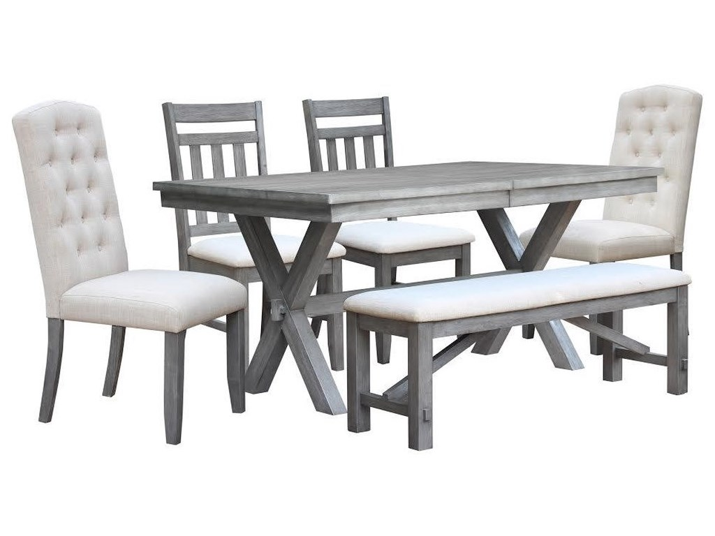 Vilo Home Shelter Cove6pc Table Set with Bench