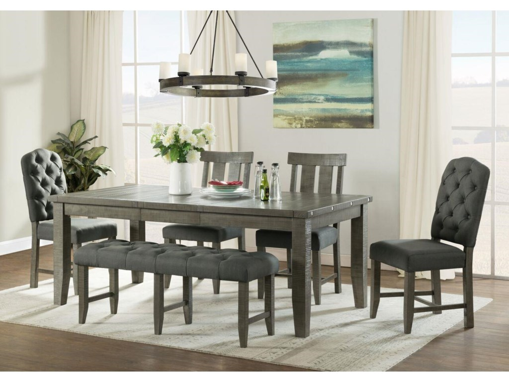 Vilo Home Industrial Charm6pc Dining Set with Bench