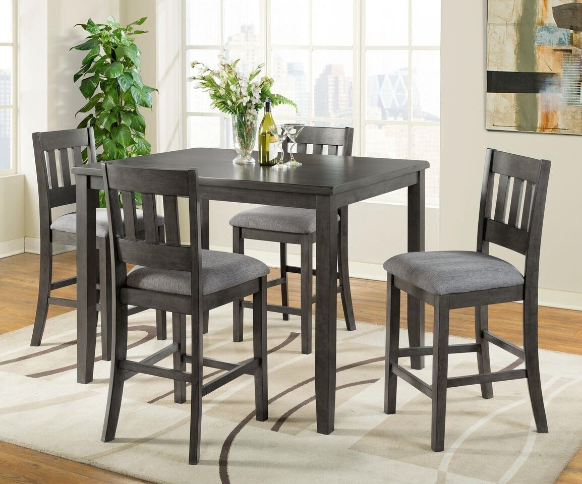 Vilo Home Americano Grey VH575  5pc Pub Set Americano Grey