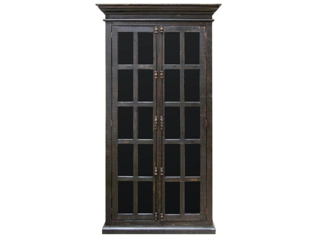 Vintage AccentsMadden Black Vitrine Cabinet