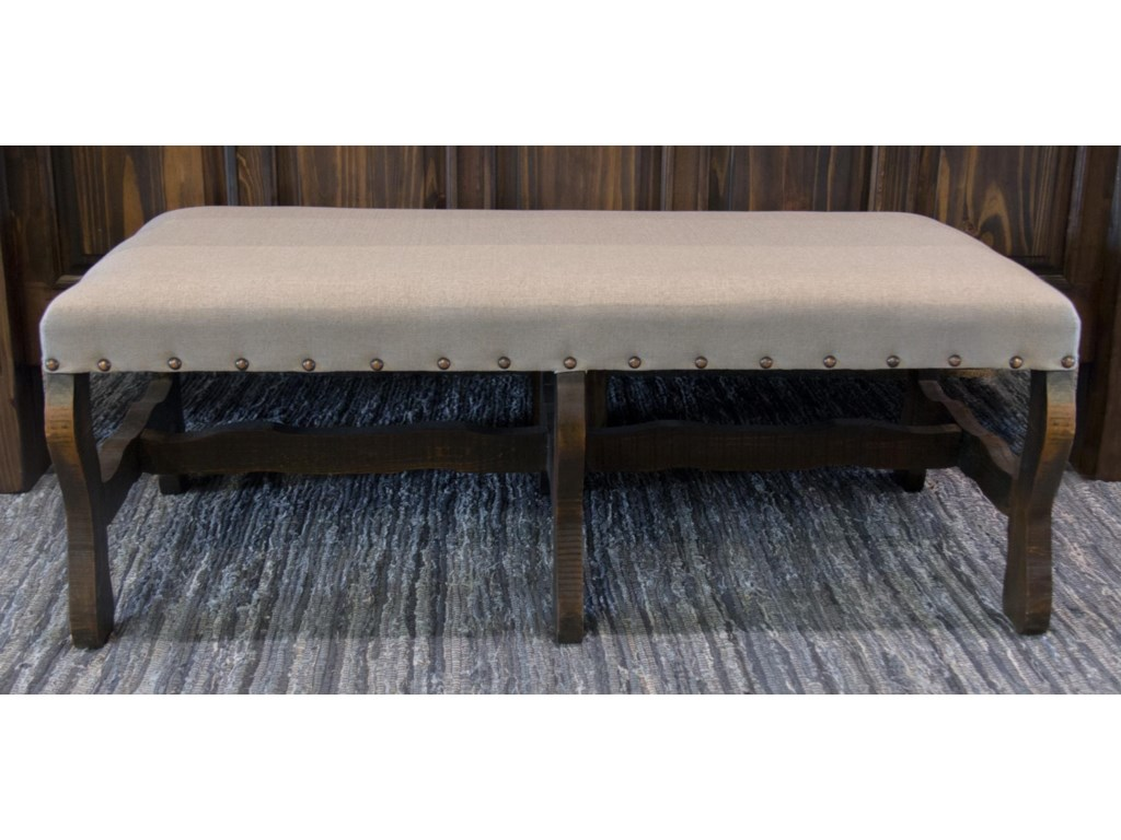 Vintage AccentsLinen Bench in Rodeo
