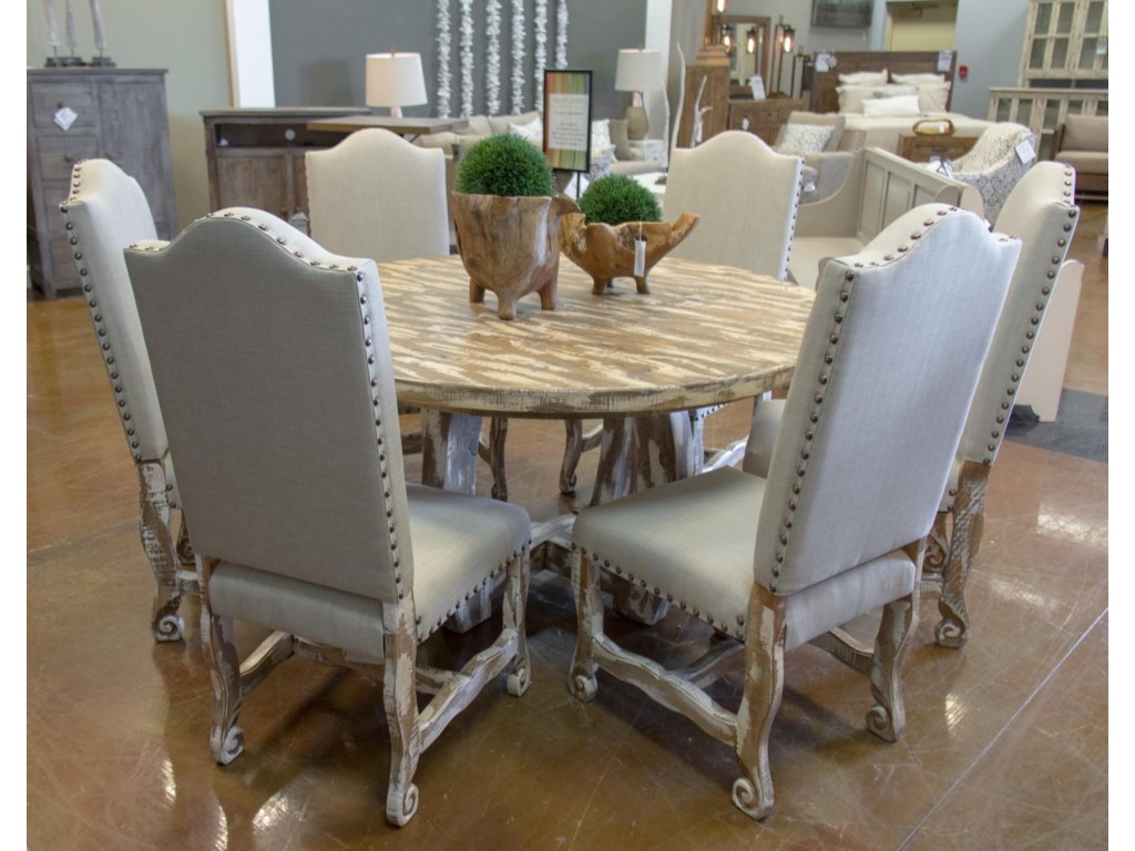 Vintage dining setsnickel white table 6 dining chairs