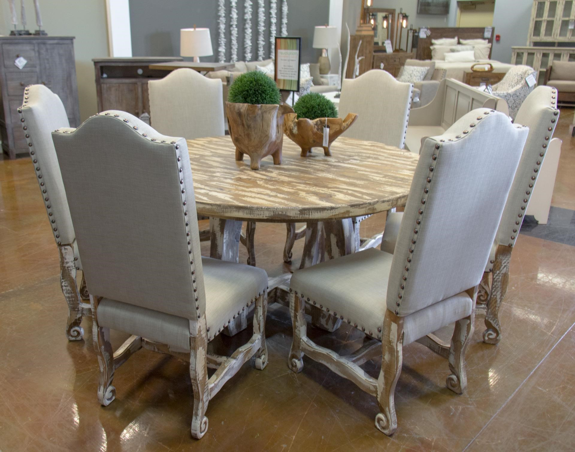 Vintage Dining SetsNickel White Table U0026 6 Dining Chairs