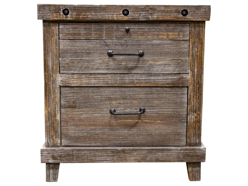 Vintage Industrial Bedroom3 Drawer Nightstand