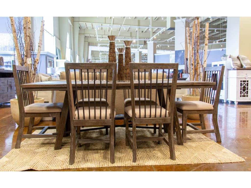 Industrial Dining Dining Table & 6 Side Chairs by Vintage at Great American  Home Store