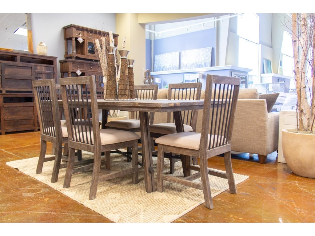 Vintage Industrial DiningDining Table & 6 Side Chairs