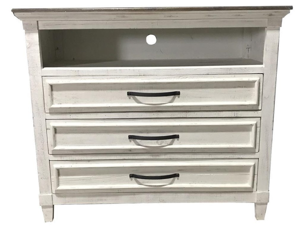 Vintage WillowTwo-Toned Media Chest