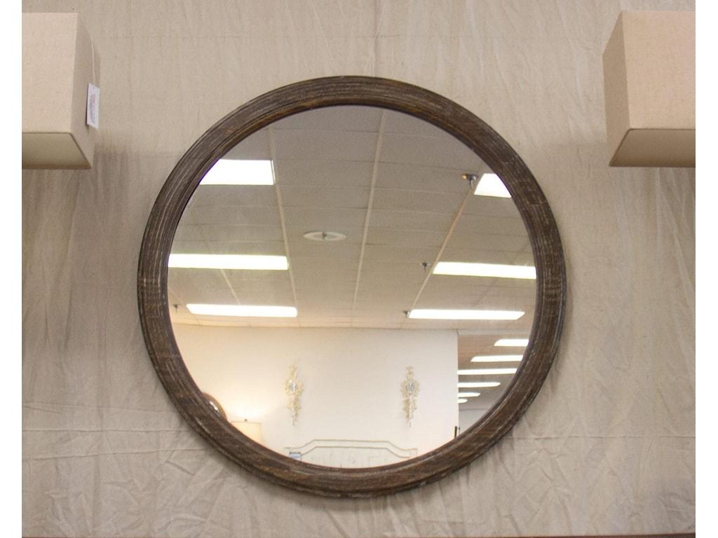 Vintage AustinBarnwood Round Mirror