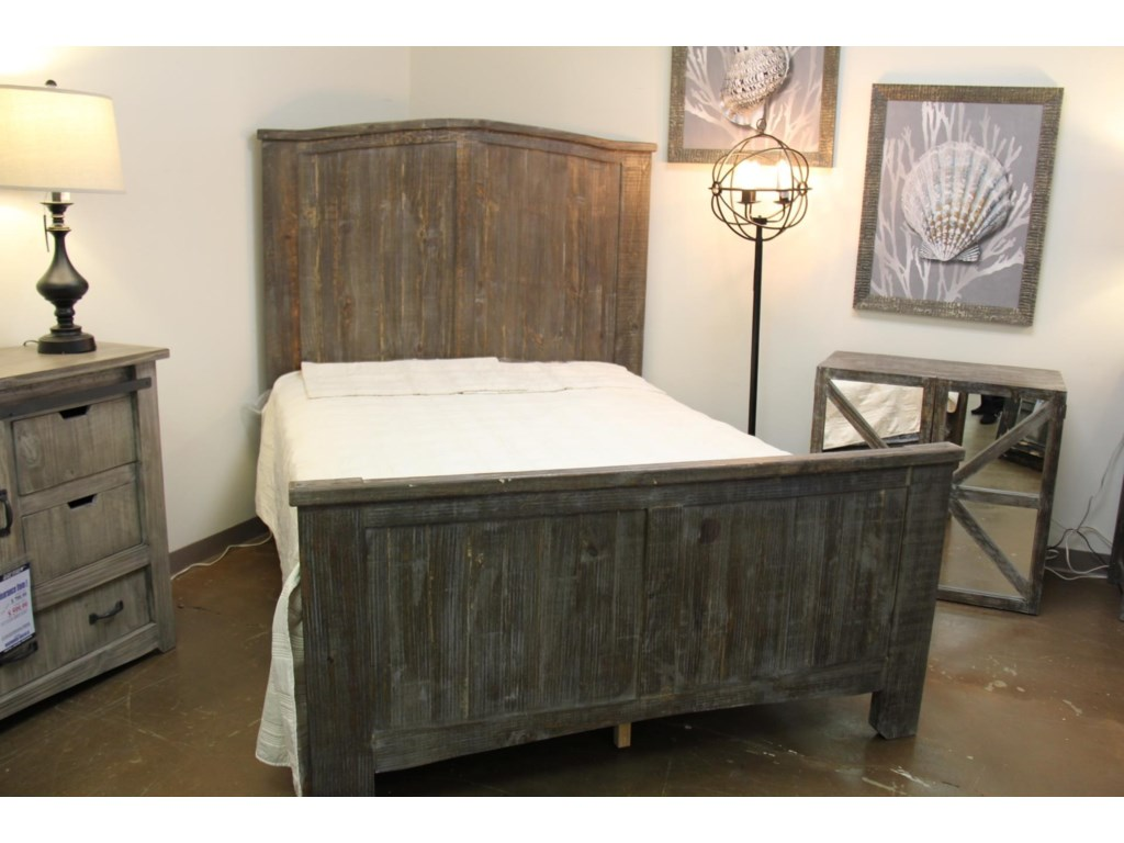 Vintage Mesh BarnwoodQueen Bed