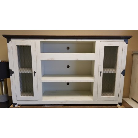 Mesh Fireplace TV Stand
