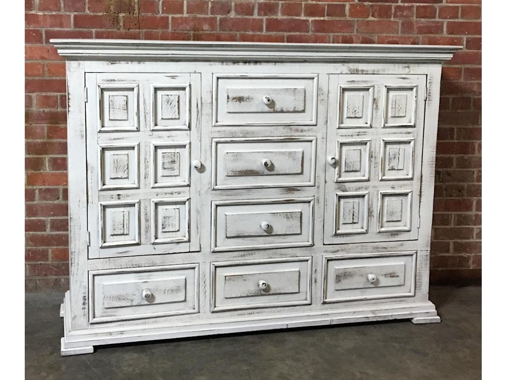 Vintage ChaletNero White Dresser