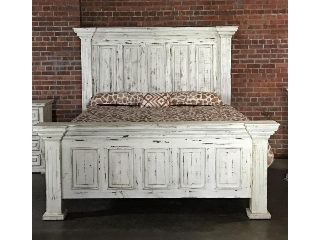 Vintage ChaletKing Nero White Bed