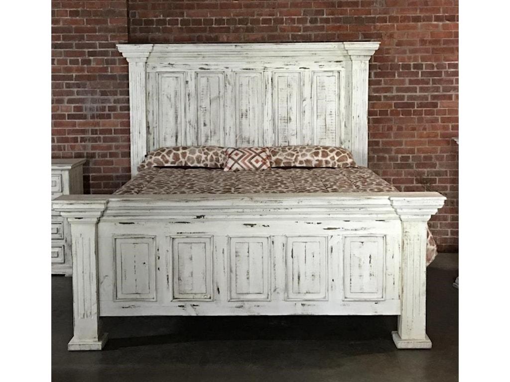 Vintage ChaletQueen Nero White Bed