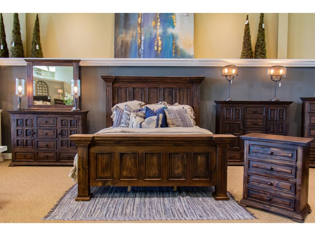 Vintage ClaudiaKing Bed, Dresser, Mirror & Nightstand