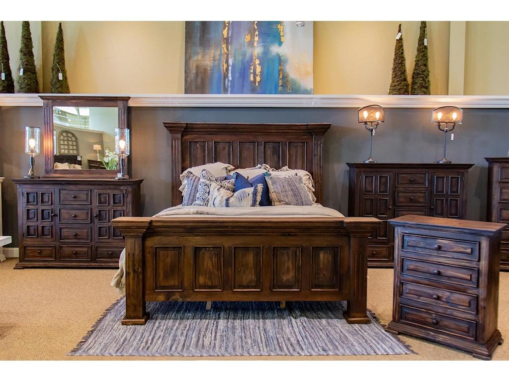 Vintage ClaudiaQueen Bed, Dresser, Mirror & Nightstand
